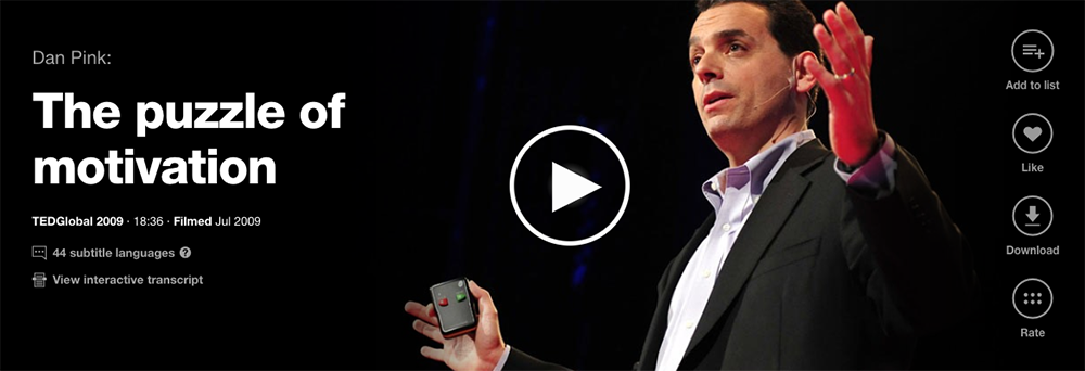 dan pink the puzzle of motivation In this ted talk dan pink examines the puzzle of motivation find out the three elements of the new operating system for businesses in this ted talk dan pink examines the puzzle of motivation  dan pink is an author of books about behavior science, work, and management.