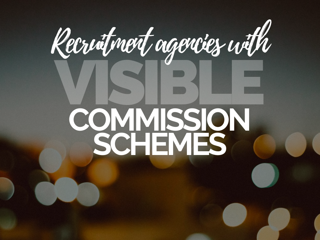 Recruitment Agencies with Visible Commission Schemes
